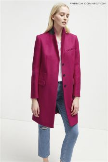 French Connection Pink Smart Coat
