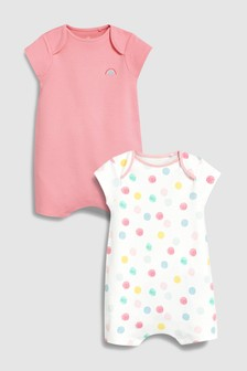 Spot Rompers Two Pack (0mths-2yrs)