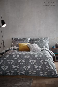 Content by Terence Conran Geo Leaves Cotton Duvet Cover and Pillowcase Set