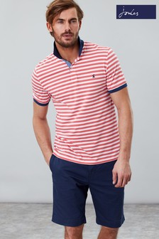 Joules Red Clarkwell Jersey Stripe Polo