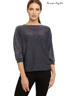 Phase Eight Multi Becca Rainbow Sequin Batwing Knit