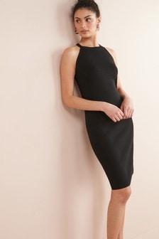 Halter Lace Back Dress