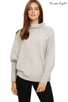 Phase Eight Grey Corine Cable Knit Jumper