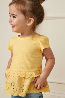 Broderie T-Shirt (3mths-7yrs)