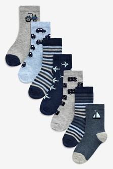Transport Socks Seven Pack (Younger)