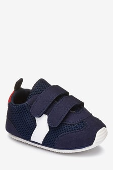 Double Strap Pram Shoes (0-24mths)