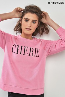 Whistles Chérie Embroidered Sweatshirt