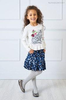 Angel & Rocket Blue Animal Print Skirt