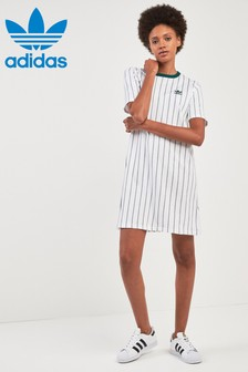 adidas Originals White/Green Tee Dress