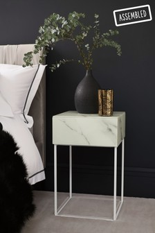 Sloane Glass 1 Drawer Bedside Table