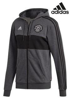 adidas Grey Manchester United Full Zip Hoody