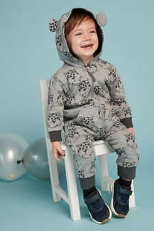 Leopard Face All-Over Print All-In-One (3mths-7yrs)