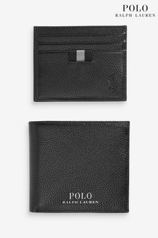 Polo Ralph Lauren Black Leather Wallet Gift Set