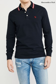 Abercrombie & Fitch Navy Core Polo Tee