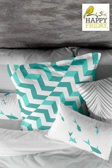 Happy Friday Zig Zag Cushion