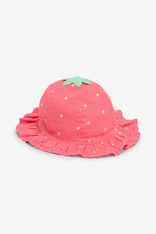 Strawberry Sun Hat (0mths-2yrs)