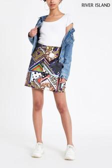 River Island Seasonal Edit Mixed Print Skirt