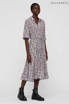 All Saints Ditsy Floral Shirt Dress
