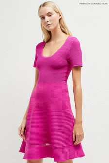 French Connection Pink Crepe Knit Dress