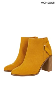 Monsoon Ochre Sally Strap Boot