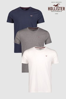 Hollister Basic Multi Short Sleeve T Shirts 3 Pack