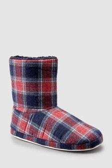 Tartan Slipper Boots (Older)