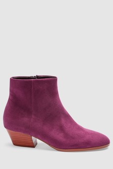Slant Heel Ankle Boots