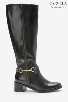 Carvela Comfort Waffy Snaffle Zip Tall Boots