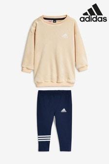 adidas Infant Cream/Navy Velvet Set