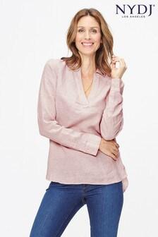 NYDJ Pinstripe Linen Shirt