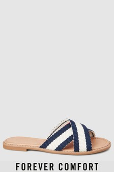 Forever Comfort Cross Strap Mule Sandals
