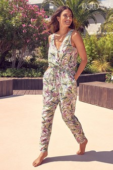 Figleaves Green Palm Jumpsuit