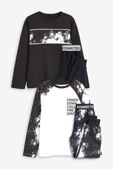 Galaxy Print Pyjamas Two Pack (3-16yrs)