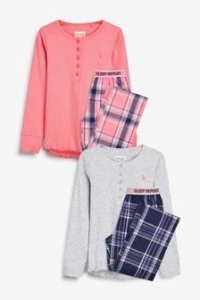 Woven Bottom Pyjamas Two Pack (3-16yrs)