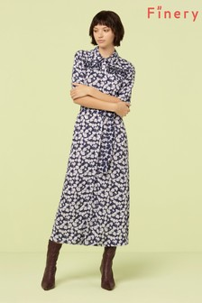 Finery London Multi Ines Belted Shirt Dress
