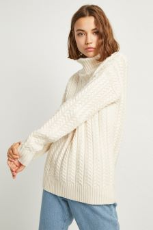 French Connection Cream Knitted Jumper