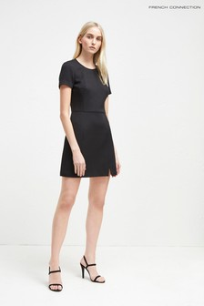 French Connection Black Texture Dress