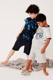 Marble Print Pyjamas Two Pack (3-16yrs)