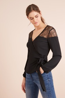 Lace Wrap Top