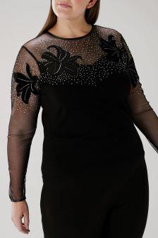 Coast Black Curve Julia Embellished Knit
