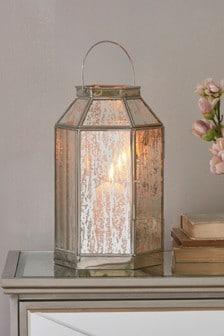Mercury Glass Lantern