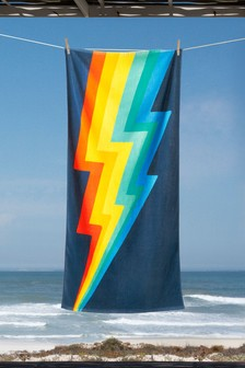Rainbow Bolt Beach Towel