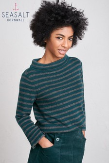 Seasalt Dark Teal Gulf Jumper