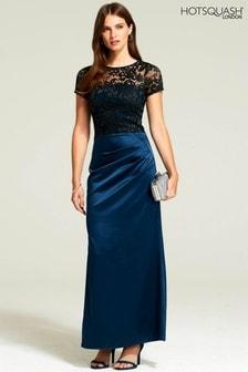HotSquash Woodland Teal Sasha Maxi Evening Dress