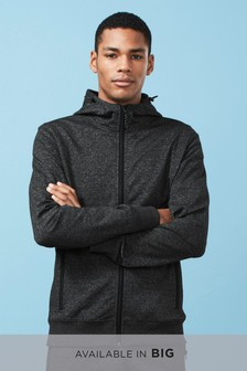 Fabric Interest Zip Through Hoody