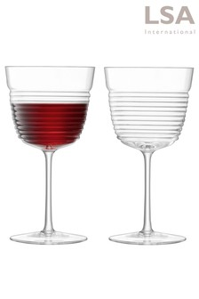 Set of 2 LSA International Groove Wine Glasses