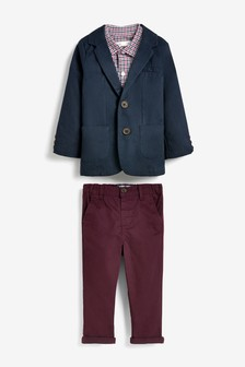 Blazer, Shirt And Chinos Set (3mths-7yrs)