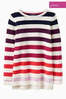 Joules Pink Multi Stripe Seabridge Chenille Jumper