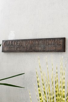 Outdoor Party Plaque