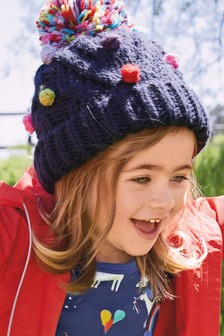 Pom Bobble Beanie Hat (Younger)
